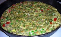 Indian Omelette Torte